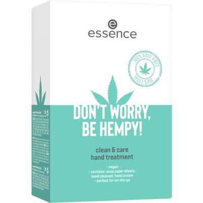 Essence čistící set na ruce don't worry be hempy! clean & care - 1