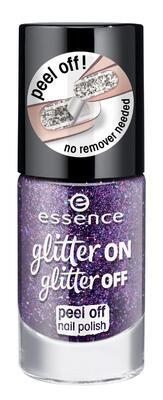 essence odlupovací lak glitter on glitter off 04,