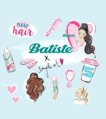 BATISTE Wonderland 200ml  suchý šampon; - 2