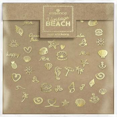 essence Vintage BEACH nálepky na nehty 01 - 2