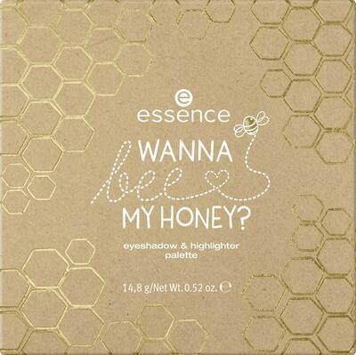 essence WANNA bee MY HONEY? paletka očních stínů a rozjasňovačů 01 - 2